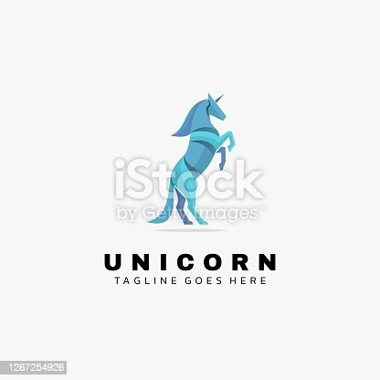 istock Vector Illustration Unicorn Gradient Colorful Style. 1267254926