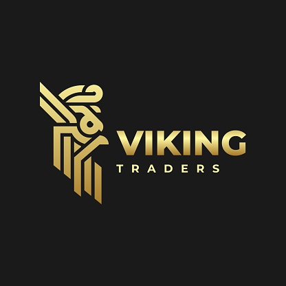 Vector Illustration Viking Gradient Colorful Style.