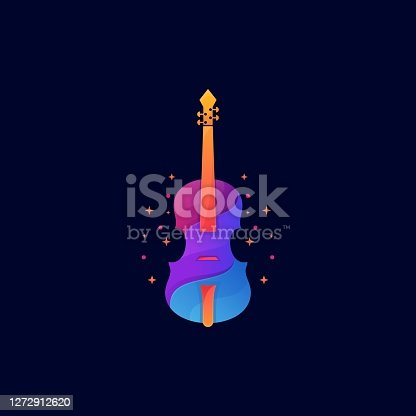 istock Vector Illustration Violin Gradient Colorful Style. 1272912620