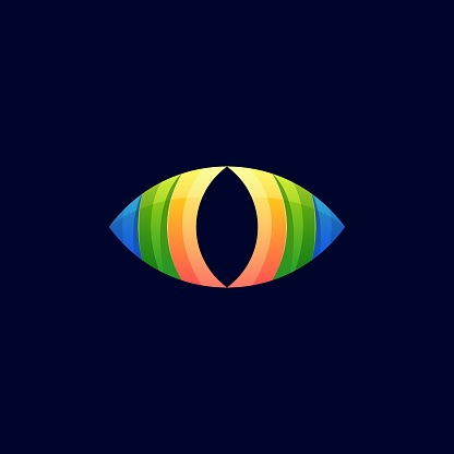 Vector Illustration Vision Gradient Colorful Style.