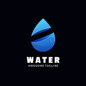 Vector Illustration Water Gradient Colorful Style.