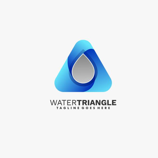 Vector Illustration Water with Triangle Gradient Colorful Style. Vector Illustration Water with Triangle Gradient Colorful Style. innocence stock illustrations