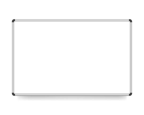ilustraciones, imágenes clip art, dibujos animados e iconos de stock de vector junta de ilustración, blanco con copia espacio, aislada sobre fondo blanco. - pizarra blanca