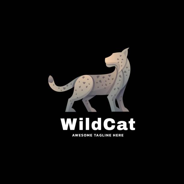 Vector Illustration wild Cat Gradient Colorful Style. Vector Illustration wild Cat Gradient Colorful Style. carnivorous stock illustrations