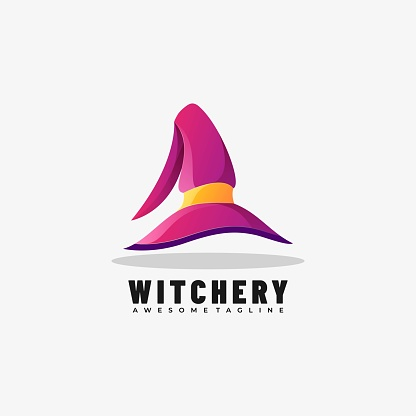Vector Illustration Witchery Gradient Colorful Style.