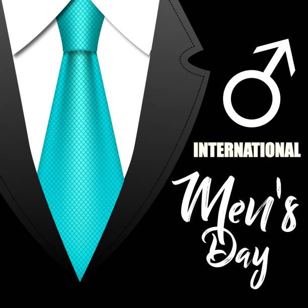 Vektor-Illustration mit einem Anzug und Krawatte für die internationalen Herren Tag – Vektorgrafik