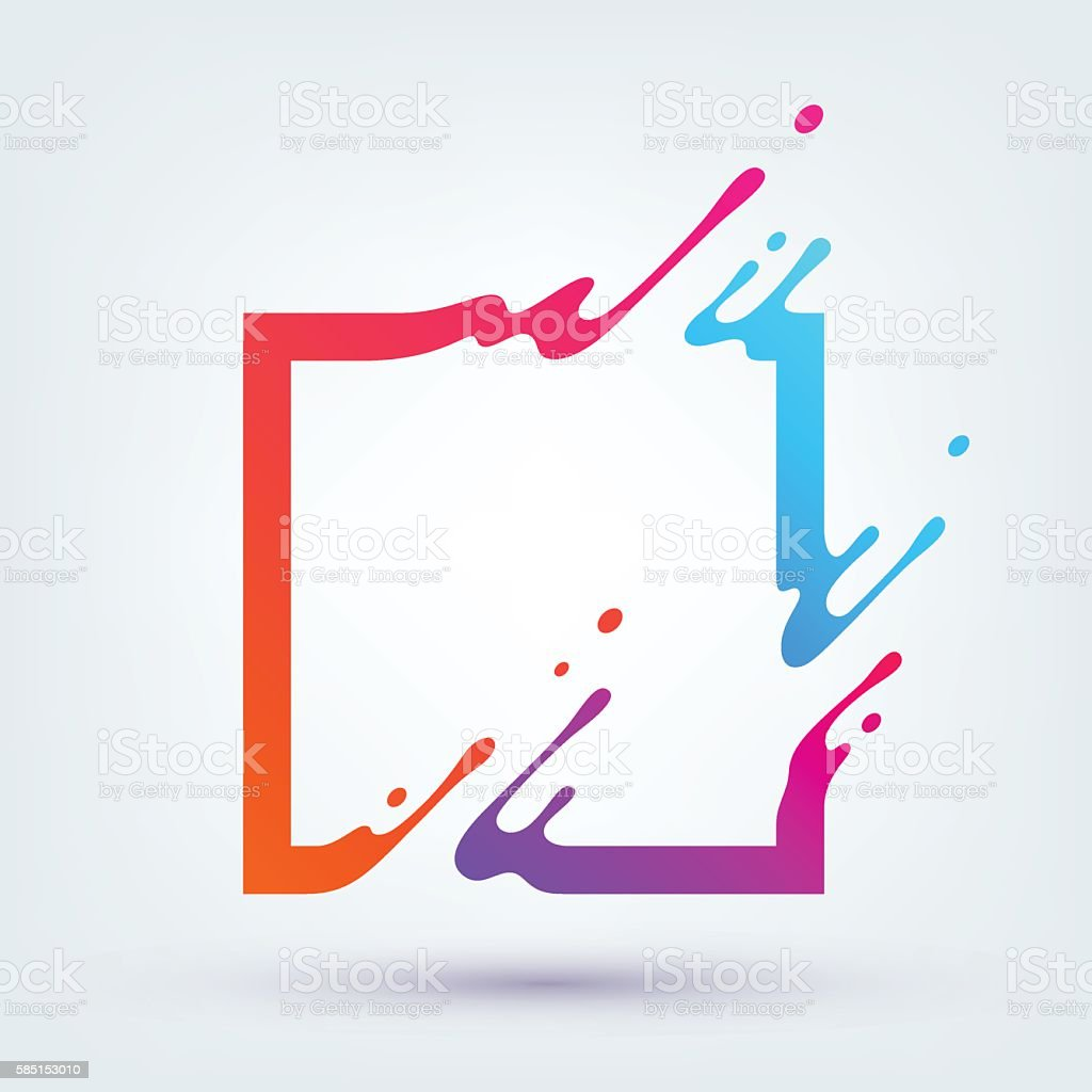 Vector Illustration with Abstract Colorful Square vector art illustration