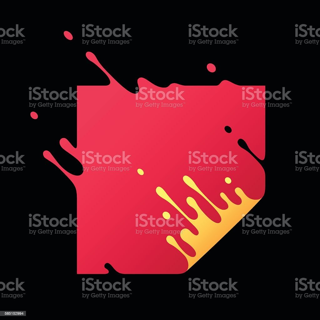 Vector Illustration with Abstract Red Square vector art illustration