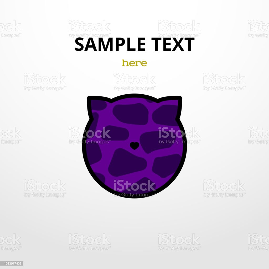 Vector illustration with animal pattern