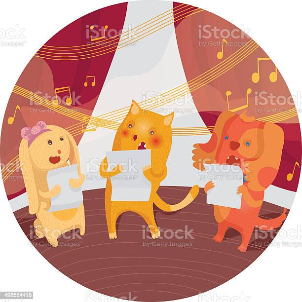 Vector illustration with animals singing in a chorus together vector id498584418?b=1&k=6&m=498584418&s=612x612&h=kmwiloxjwbmjgewtoczvly118fnfjwacgn4adurqmw8=