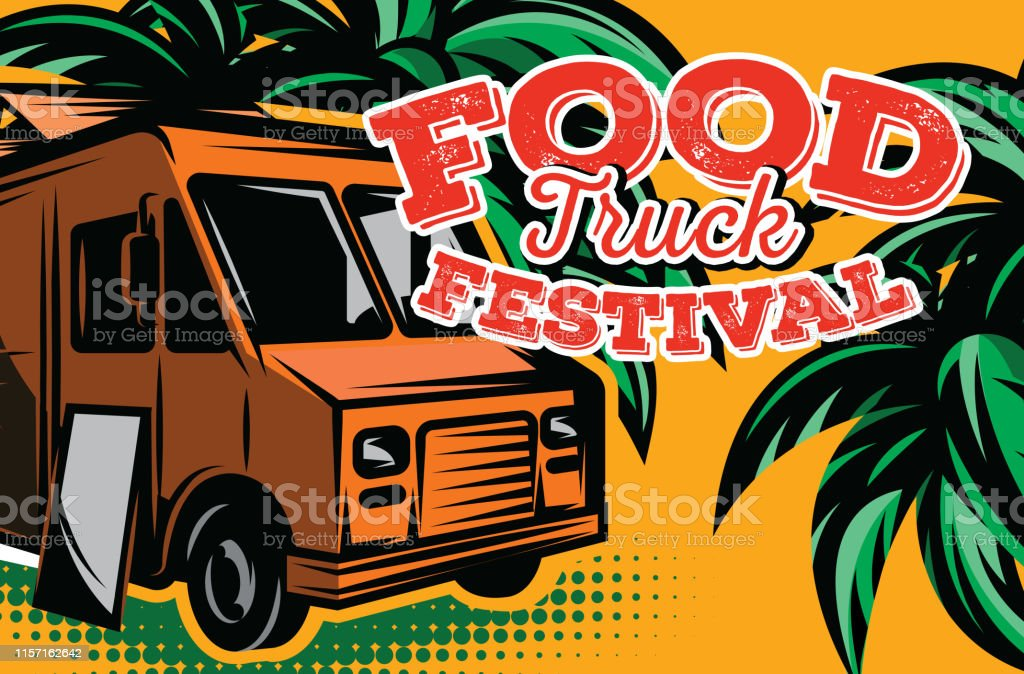 Vector illustration with design elements for advertising street food...