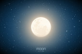 Full moon vector. (eps10) This file contains transparencies and gradient meshes.