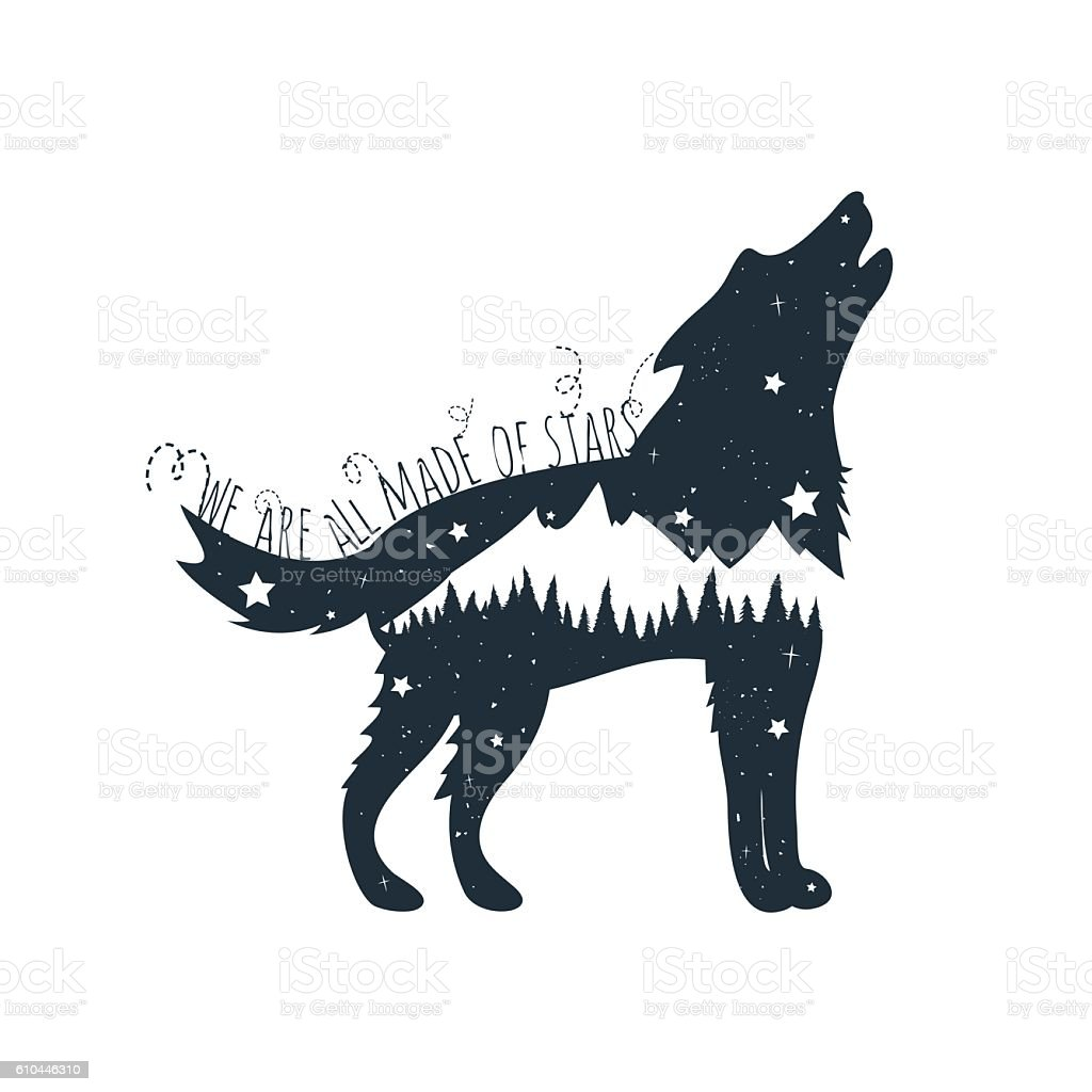 Scooby Doo Wall Stickers Download Howling Wolf Silhouette Stock Illustration Image