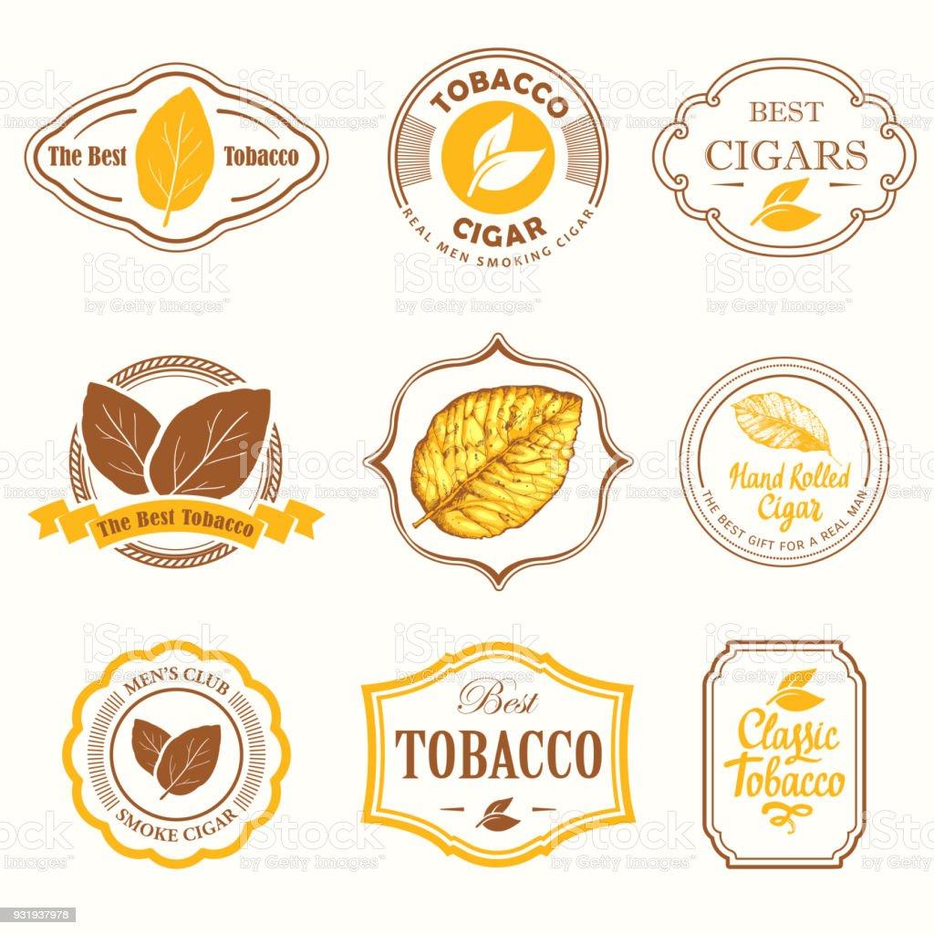 Ilustración de Ilustración De Vector Con Logotipo Y Etiquetas ...