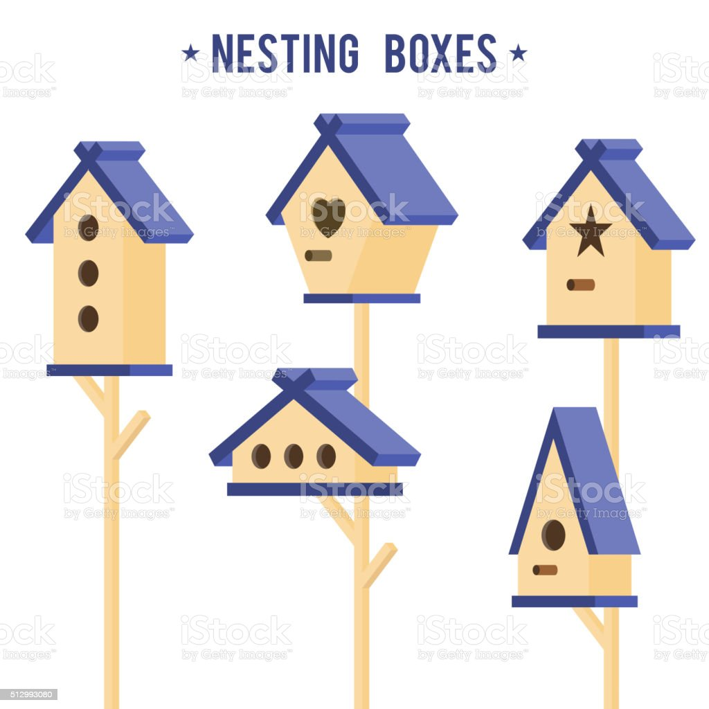 Vector illustration with nesting box vector art illustration