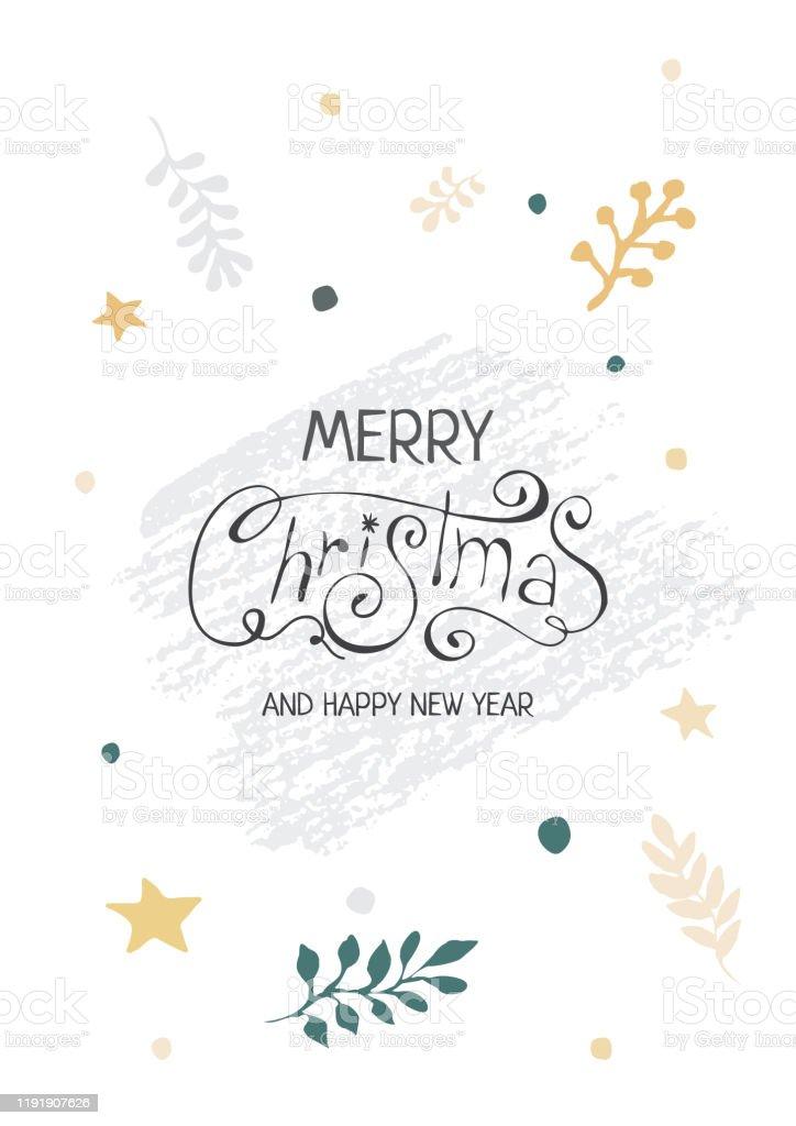 手書きのテキストと新年とクリスマスカードとベクトルのイラスト 年のベクターアート素材や画像を多数ご用意 Istock