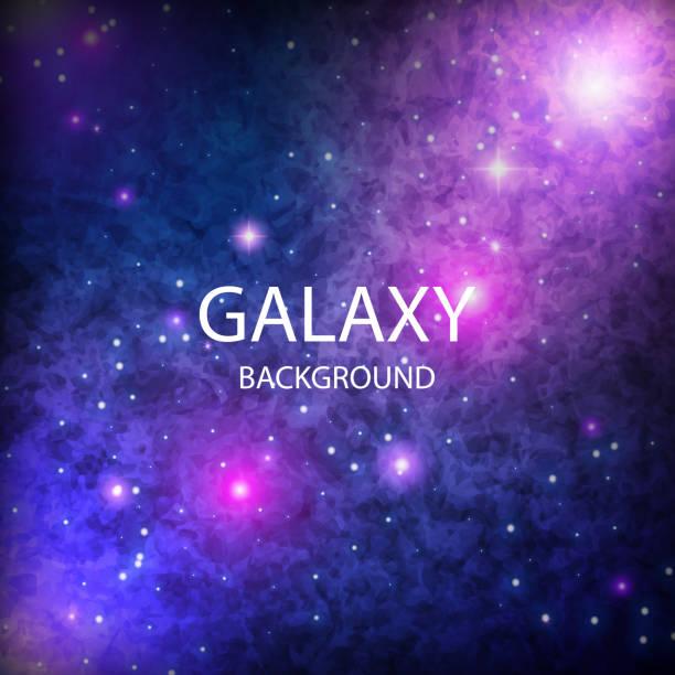 vektor-illustration mit nachtsternenhimmel und milchstraße. raum dunklen hintergrund unserer galaxie. - milky way stock-grafiken, -clipart, -cartoons und -symbole