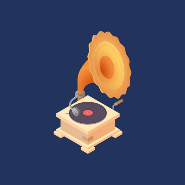 Vektor-Illustration mit alten Schallplatten. – Vektorgrafik