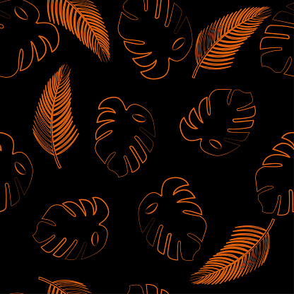Vector illustration with palms seamless pattern