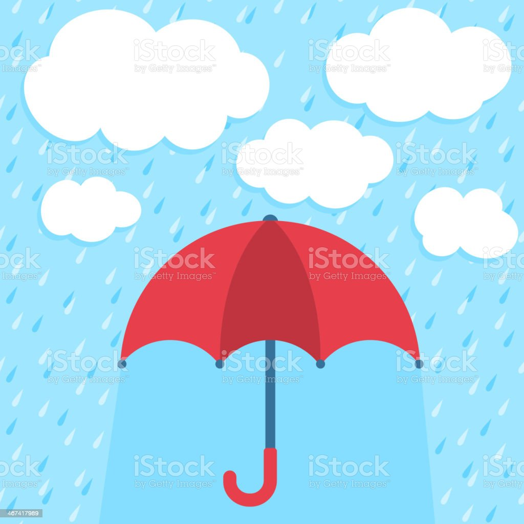 Vector illustration with umbrella and clouds royalty-free vector illustration with umbrella and clouds stock vector art & more images of abstract