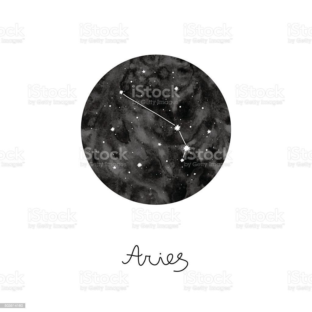 Ilustracja wektorowa z Znak zodiaku Baran – artystyczna grafika wektorowa