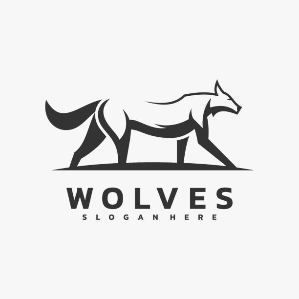 Vector Illustration Wolves Simple Mascot Style. Vector Illustration Wolves Simple Mascot Style. carnivorous stock illustrations