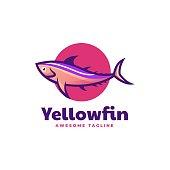 istock Vector Illustration Yellowfin Tuna Simple Mascot Style. 1324312654