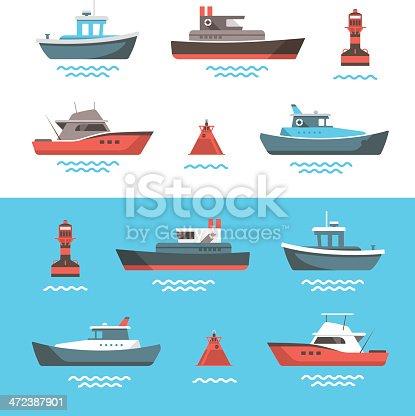 istock Vector illustrations of boats 472387901