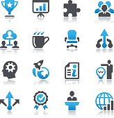 Vector illustrations of business icons