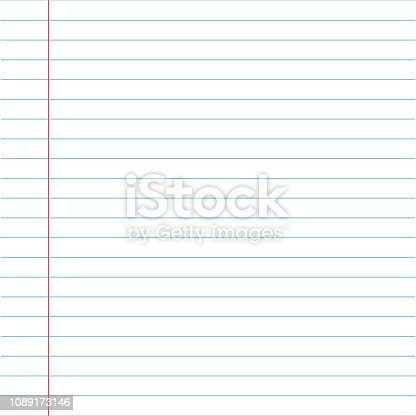 Vector illustrations of lined paper with texture