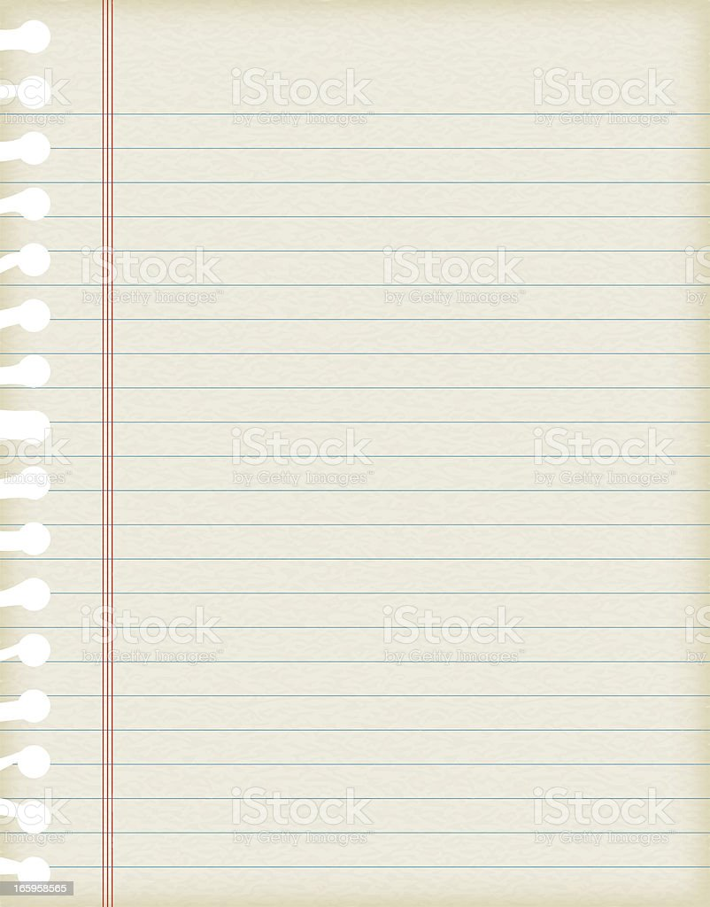 Vector illustrations of lined paper with texture vector art illustration