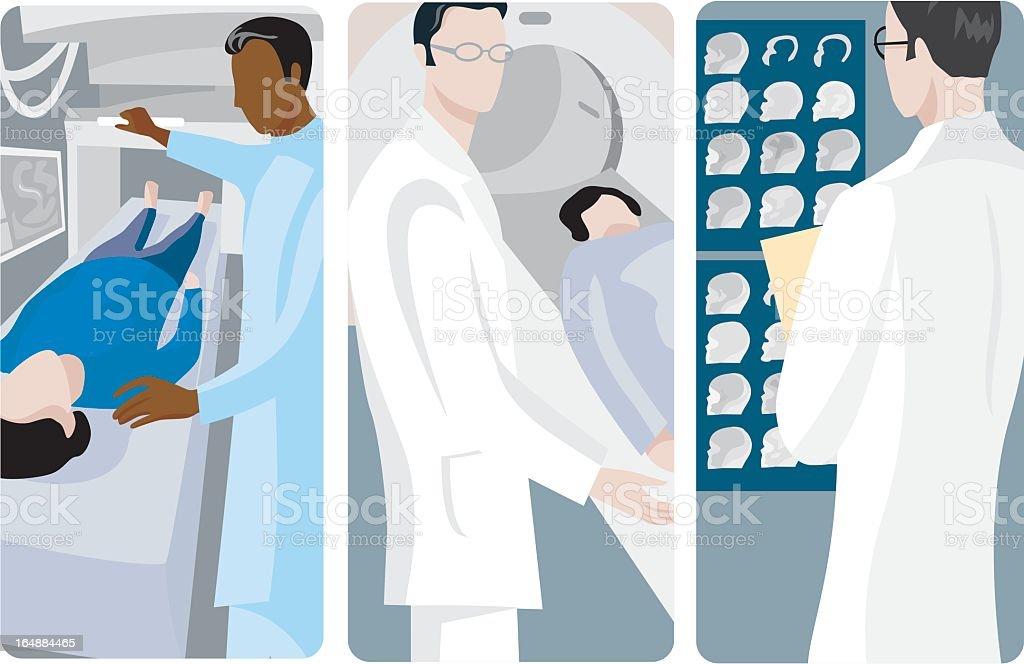 Vector illustrations of medical procedures vector art illustration