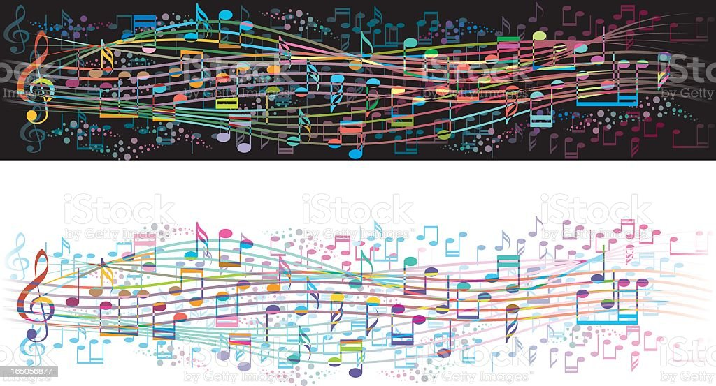 Vector illustrations of musical notes in two color themes royalty-free vector illustrations of musical notes in two color themes stock vector art & more images of arts culture and entertainment