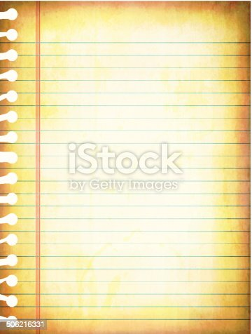 istock Vector illustrations of old grunge lined paper 506216331