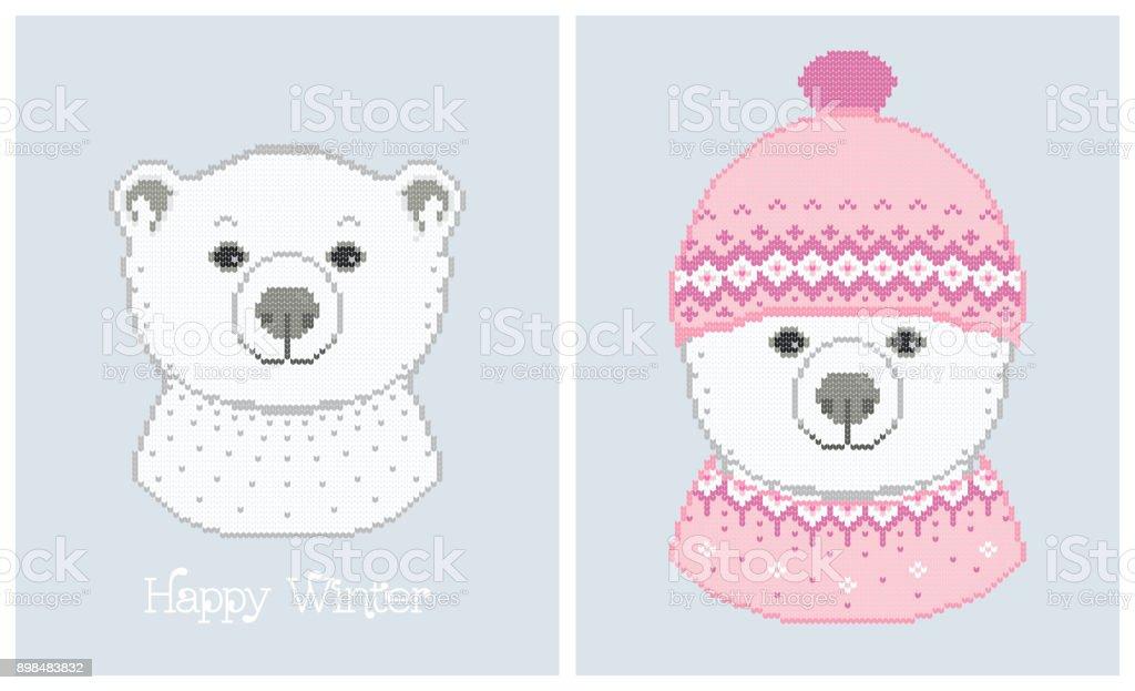 Ilustración de Ilustraciones Vectoriales De Oso Polar En Un Sombrero ...