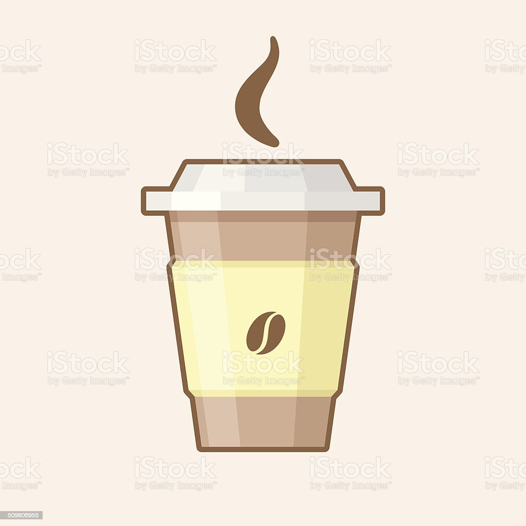 ベクトルイラストsteami Ng テイクアウトのコーヒーカップ