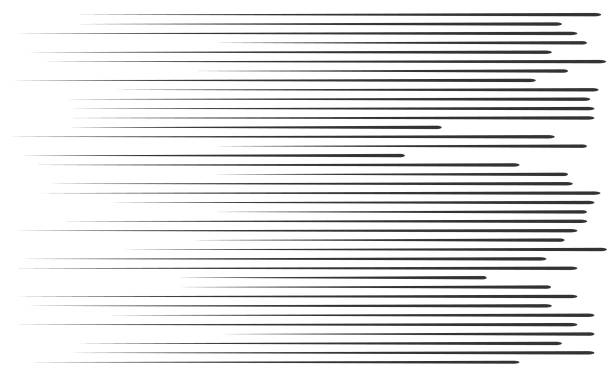 Vector illustrator Fast speed lines moving in left direction. striped stock illustrations