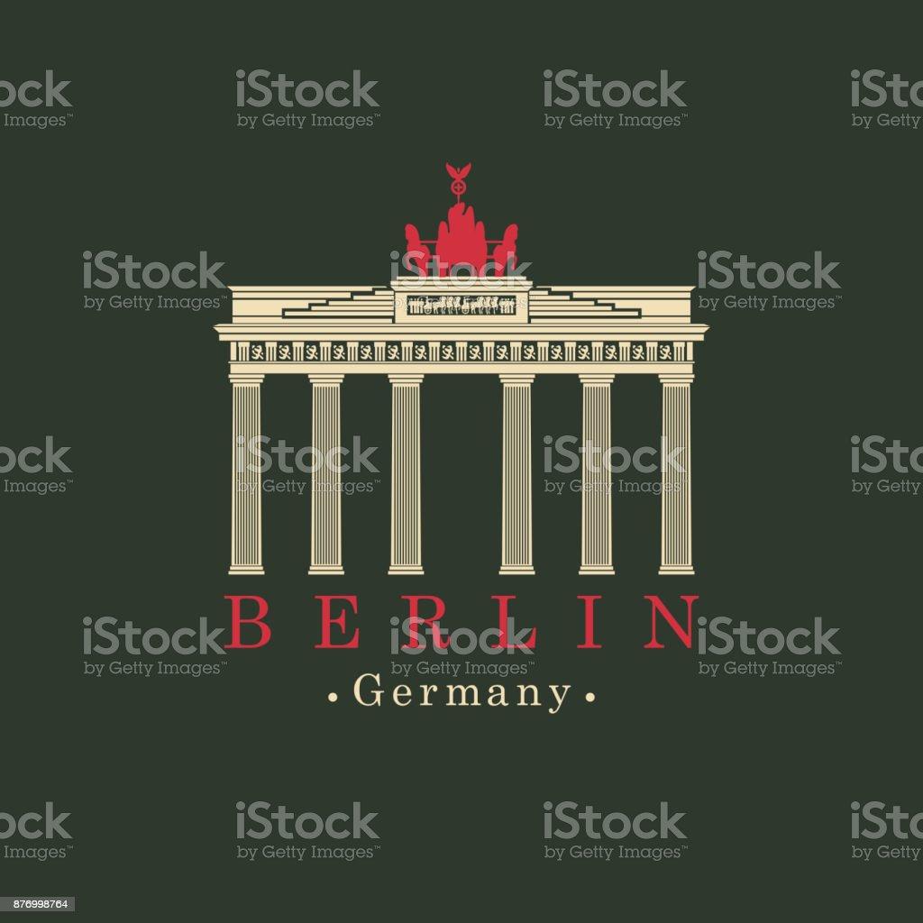 Vector image Brandenburg Gate in Berlin vector art illustration