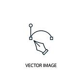 vector image concept line icon. Simple element illustration. vector image concept outline symbol design. Can be used for web and mobile UI/UX