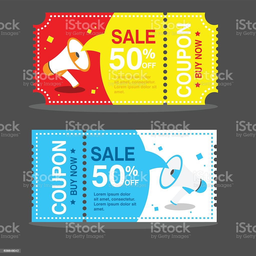 vector image coupon discount template vector art illustration