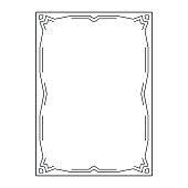 vector image, decorative ornamental frame, original design, idea for your design