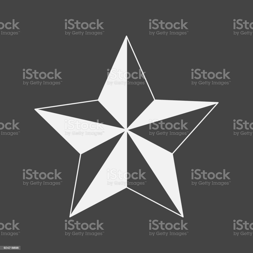 Vektor Bild Fünfzackigen Stern Sterne Auf Schwarzem Hintergrund ...