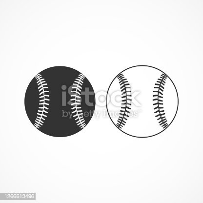 Vector image of a baseball icon.