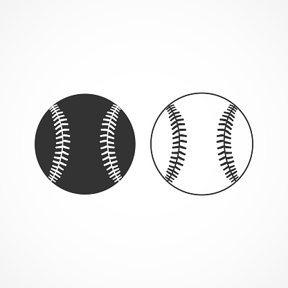 Vector image of a baseball icon.