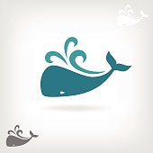 Vector image of a big whale