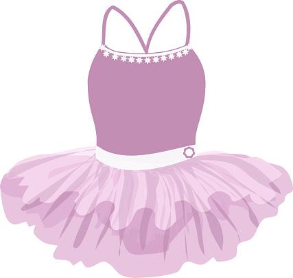vector image of a curvy tutu for a little girl ballerina