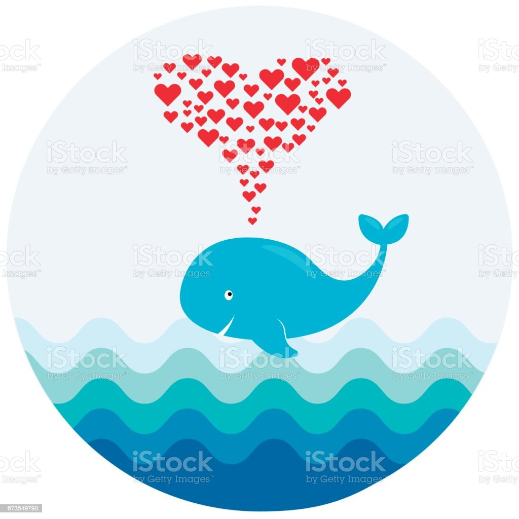 A vector image of a cute cartoon whale with hearts fountain. Illustration for greeting, baby shower or invitation card royalty-free a vector image of a cute cartoon whale with hearts fountain illustration for greeting baby shower or invitation card stock vector art & more images of animal