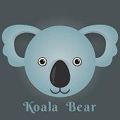 Vector image of a cute koala bear