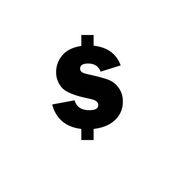 vector image of a flat, isolated icon dollar sign. currency exchange dollar. united states dollar sign - dollar bill stock illustrations