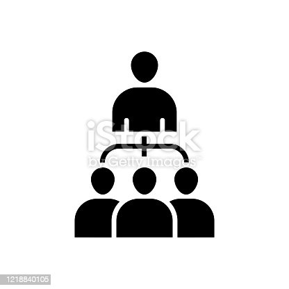 Vector image of a flat, isolated icon organization sign